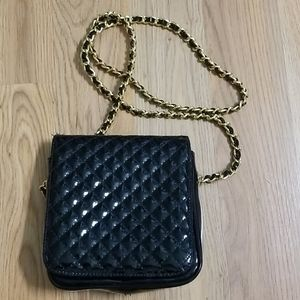 Amanda Smith quilted goldtone chain crossbody